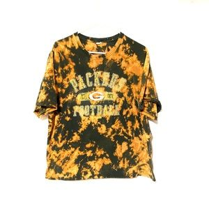 Custom Dyed Green Bay Packers T-shirt